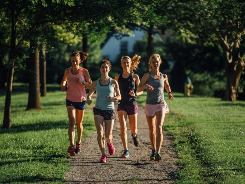 A group of women running